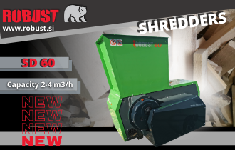 NEW – INDUSTRIAL SHREDDER ROBUST SD 60
